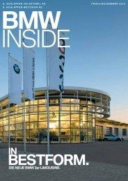 BMW INSIDE- In Bestform. Die neue BMW 3er Limousine