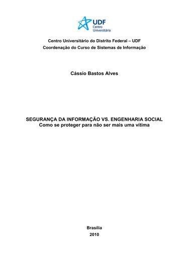 Segurança da Informação vs. Engenharia Social - Cássio Bastos ...