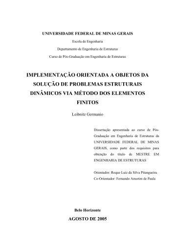 T - Biblioteca Digital de Teses e Dissertações da UFMG