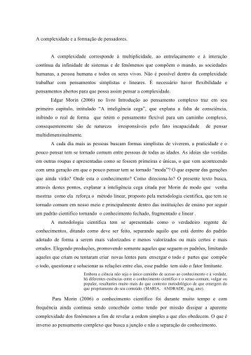 texto de complexidade.pdf - Ufersa