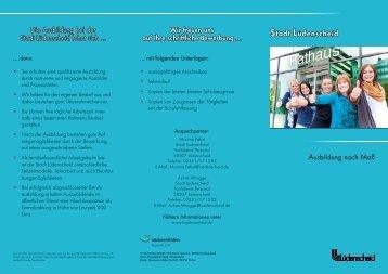 Ausbildung - Flyer - Stadt Lüdenscheid