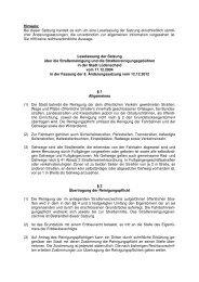 Satzung 7.05 - Straßenreinigung und Straßenreinigungsgebühren