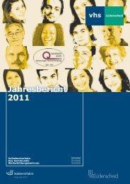 Jahresbericht 2011 - Stadt Lüdenscheid