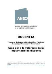 DOCENTIA - Agència per a la Qualitat del Sistema Universitari de ...