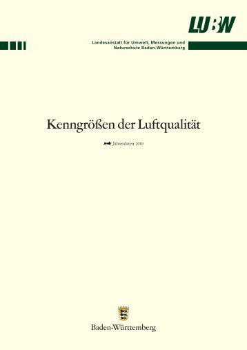 Kenngrößen der Luftqualität - Landesanstalt für Umwelt, Messungen ...