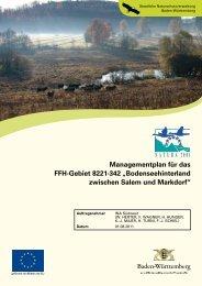 Managementplan für das FFH-Gebiet 8221-342 - Landesanstalt für ...