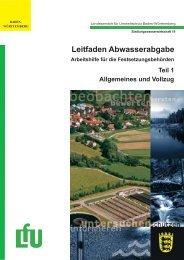 Leitfaden Abwasserabgabe - Landesanstalt für Umwelt, Messungen ...