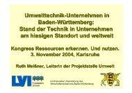 Umwelttechnik-Unternehmen in Baden-Württemberg: Stand der ...