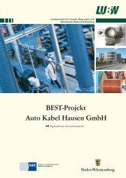 BEST-Projekt Auto Kabel Hausen GmbH - Landesanstalt für Umwelt ...