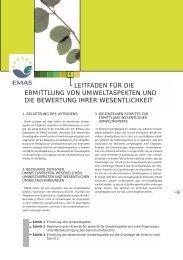 leitfaden für die ermittlung von umweltaspekten und die ... - EMAS