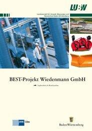 BEST-Projekt Wiedenmann GmbH - Umwelttechnologie und ...