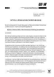 (B.Sc.) Sicherheitswesen - Umwelttechnik (pdf) - Landesanstalt für ...
