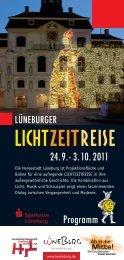 Programmheft der Lüneburger LICHTZEITREISE