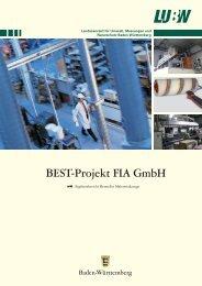 BEST-Projekt FIA GmbH - Landesanstalt für Umwelt, Messungen ...