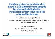Einführung eines innerbetrieblichen Energie - Baden-Württemberg