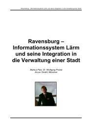Ravensburg – Informationssystem Lärm und seine Integration in die ...