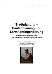 Bauleitplanung und Lärmkontingentierung - Baden-Württemberg