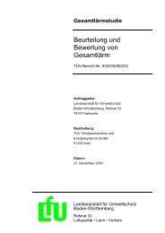 Beurteilung und Bewertung von Gesamtlärm - Landesanstalt für ...
