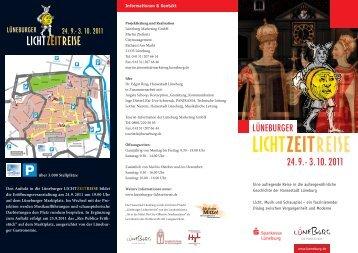 Flyer Lüneburger Lichtzeitreise