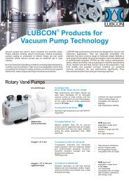 LUBCON Products For Vacuum Pump Technology - Lubricant ...