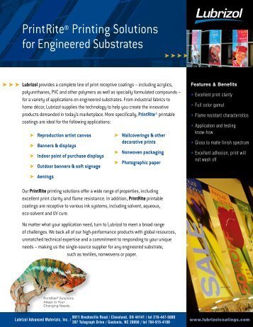 PrintRite® Printing Solutions for Engineered Substrates - Lubrizol