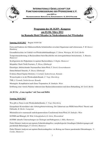 Programm und Informationen