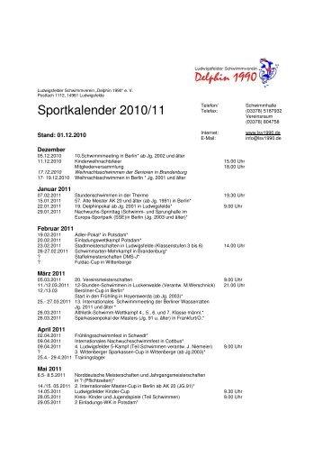 Sportkalender 2010/11 - LSV1990.de