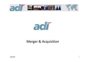 Helmut Berchtold 22 Years Industry Experience Klaus ... - adi Consult.