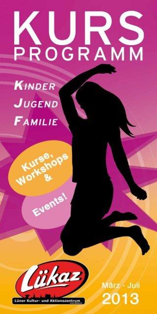 Kurs- und Workshopprogramm LÜKAZ 1/2013 - Stadt Lünen