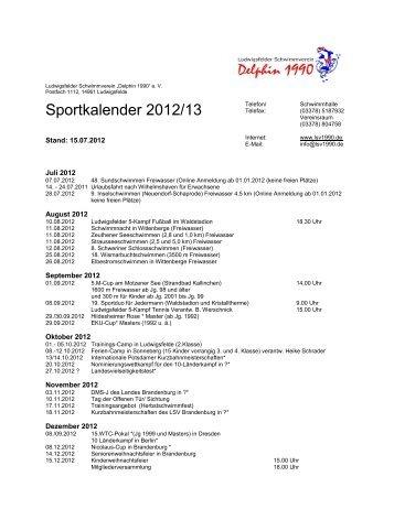Sportkalender 2012/13 - LSV1990.de