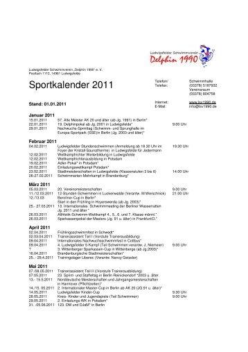 Sportkalender 2011 - LSV1990.de