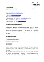 Currículum vitae - Associació d'Escriptors en Llengua Catalana