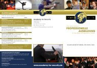 PROFESSIONELLE AUSBILDUNG - Academy for Security
