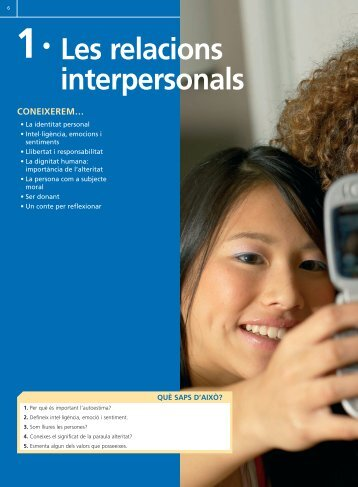 1 · Les relacions interpersonals - Editex