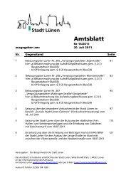 _Deckblatt Amtsblatt - Stadt Lünen