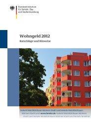 Wohngeld 2012 - Ratschläge und Hinweise. Broschüre des ...