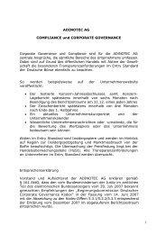 Compliance und Corporate Governance 2010 - adinotec