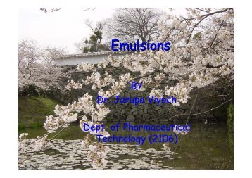 Emulsions - SurfaTech
