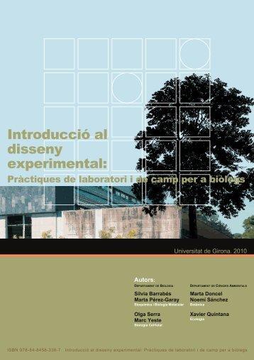 Introducció al disseny experimental - UdG