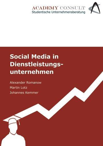 Social Media in Dienstleistungs - Academy Consult München e.v.