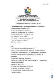 Poética & Filosofia Cultural - Mahatma Gandhi - Unifap