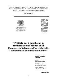 """""""Projecte per a la millora i la recuperació de l'hàbitat de la ..."""