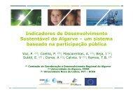 Indicadores de Desenvolvimento Sustentável do Algarve – um ...