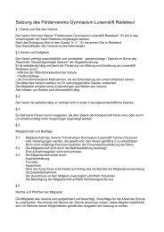 Satzung des Fördervereins (pdf-Dokument) - Gymnasium Luisenstift