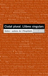 Ciutat plural. Llibres singulars - Ajuntament de L´Hospitalet