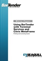 Using Bartender with Terminal Services and Citrix Metaframe