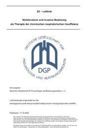 S2 – Leitlinie der DGP zur außerklinischen Beatmung - AWMF
