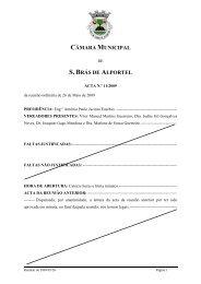 Acta nº 11 de 26 de Maio - Câmara Municipal de São Brás de Alportel