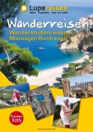 Katalog Wanderreisen 2013 von Lupe Reisen
