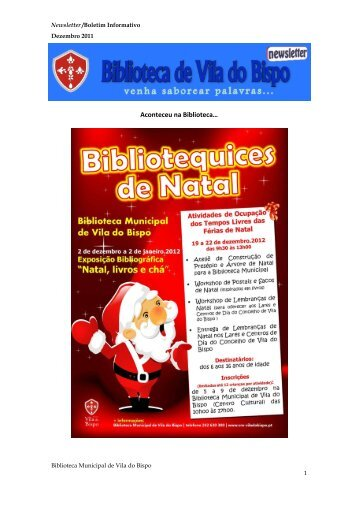 Aconteceu na Biblioteca… - Câmara Municipal de Vila do Bispo